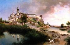 Castle View, Debnik by Polish  Jan Nepomucen Glowacki. Building 11x17 Print