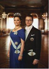 ***ORIGINAL POSTKARTE ***PRINZESSIN VICTORIA-PRINZ DANIEL-BERNADOTTE-Adel-Royal