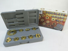 Pioneer 10 Piece Solid Brass Template Guide Kit With Adaptor