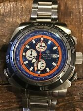 DEEP BLUE WORLD DIVER GMT.  PRE OWNED.  BEAUTIFUL CONDITION.  BLUE  AND ORANGE