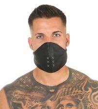 Rinds Leder Mund Bedeckung Wind-Schutz Gesichtsmaske Steampunk Biker Maske