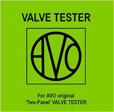 I due AVO-pannello-valvola Tester manuale-DVD-Tube-istruzioni Schemi