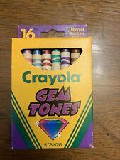 Crayola Gem Tones crayons 16 count 1993 Vintage retired discontinued Rare