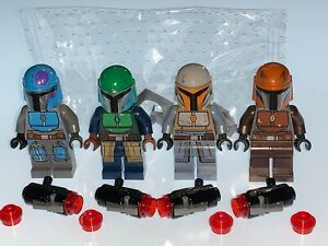LEGO STAR WARS MANDALORIAN WARRIOR'S AND WEAPONS NEW - NO CAPES - FREE POSTAGE