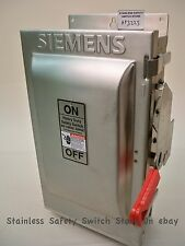 Siemens Stainless HF322S 60 amp 240 volt 3ph FUSED Safety Disconnect Switch NEW