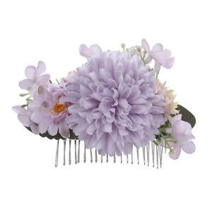 Boho Women's Flower Hair Comb Pins Slide Bridal Wedding Flower Hair Comb Wedding