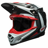 Bell MX Moto-9 Flex Motocross MX Dirt Bike Off Road Helmet Vice Black / White