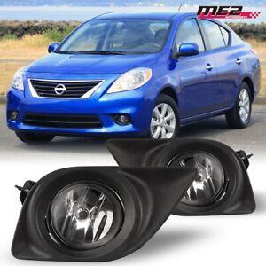 For 2012-2014 Nissan Versa PAIR OE Style Fit Fog Light Bumper Kit Clear Lens