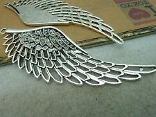 3 x tibétain argent grandes ailes d'ange charme pendentif 110mmx40mm pour collier craft