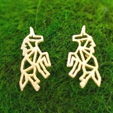 Gold Unicorn Earrings Sterling Silver Ear Posts Cute Jewelry Birthday Gift