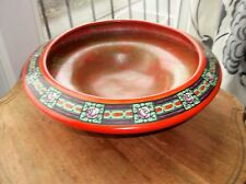 VERY LARGE ART DECO RED BOWL ON FRUIT BALL FEET ROYAL STAFFORDSHIRE WILKINSON