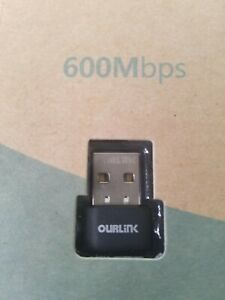 OURLiNK Nano Wireless Adapter - 600Mbps AC600 Dual Band USB WiFi Adapter dongle