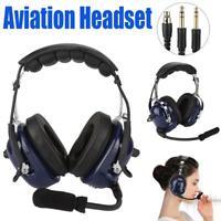 Rugged Air RA200 General Aviation Pilot Headset Headphone Earphone GA Dual Plugs