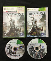 Assassin's Creed III 3 — Cleaned/Tested! Manual Included! (Xbox 360, 2012)