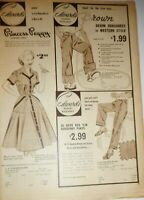Vintage Edwards Department Clothing Store Ad Advertisement 1953 Mid Century
