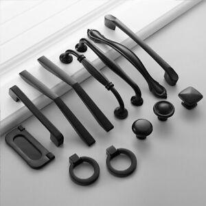 Tiradores Manija Puerta Negra Gabinete Tirador Hardware Perilla Cajón Armario 4