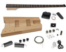 Solo SB Style DIY Headless Bass Guitar Kit, Maple Neck, Ash Body
