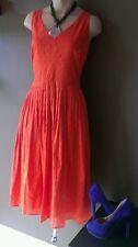 J.Crew orange red  dress, Sz 8. 100% cotton