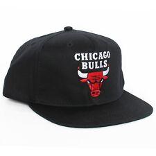 Chicago Bulls Snapback Hat Cap Black Jordan vtg NEW
