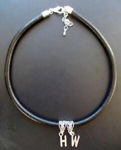 HW  Hotwife Black leather Bracelet / Anklet - Swinger, BBC, Cuckold