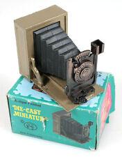 DIE CAST MINIATURE FOLDING CAMERA PENCIL SHARPENER IN ORIG. BOX