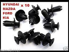 Mazda 323 Mazda 6 Push-Type Replacement Trim Black Plastic Clip Retainer T43