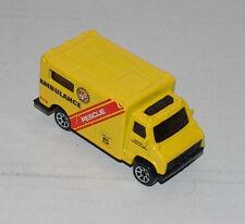 Hot Wheels Ambulance Chevrolet Rescue Black Windows & Int Sp7's Malaysia 1997