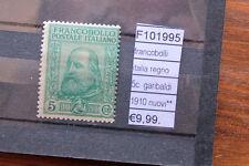 FRANCOBOLLI ITALIA REGNO 5C GARIBALDI 1910  NUOVI** MNH** (F101995)