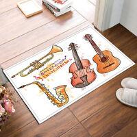 """24x16""""Non-Slip Bathroom Carpet--Violin Guitar Music Bath Mat Rug 2420"""