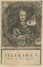 Siegfried II. von Querfurt, Hildesheim,Original-Kupferstich von ca. 1700