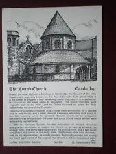POSTCARD CAMBRIDGESHIRE CAMBRIDGE - THE ROUND CHURCH LOCAL HISTORY CARD