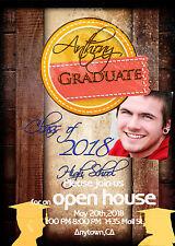 PSD Photoshop Senior Graduation Invitation, Announcement
