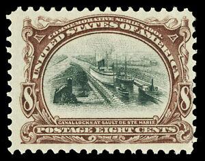Scott 298 1901 8c Brown Violet & Black Pan-American Issue Mint Fine NH Cat $230