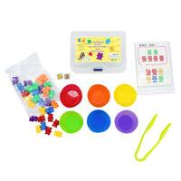 Enfants d'âge préscolaire comptant tri ours jouets éducatifs mathématiques