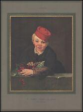 Héliogravure E. Manet - L'Enfant aux Cerises  1932 -4i