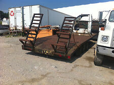 Steel Tri Axle Trailer w/ Dove Tail and Ramps Stk# 5F14