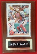Sandy Alomar Jr. 1993 Donruss Card#39 Cleveland Indians Wood Plaque M.L.B. MINT