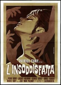 THE UNSATISFIED POSTER CINEMA FILM SEXY 1972 THE UNSATISFIED MOVIE POSTER 2F