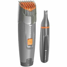 Remington Mb4011 Battery Operated Nose Ear & Beard Trimmer with Moustache Mug