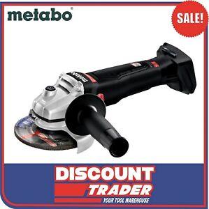 Metabo WB 18 LTX BL 125 Quick SE 18V Brushless Angle Grinder Black Edition Bare