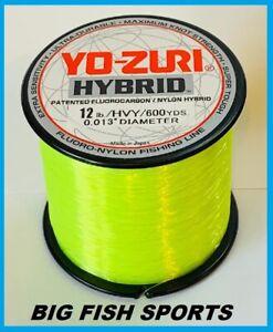 YO-ZURI HYBRID Fluorocarbon Fishing Line 12lb/600yd HIVIS NEW! FREE USA SHIP!