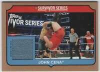 2018 Topps WWE Heritage Survivor Series 2017 Mat Relic Bronze /99 JC John Cena