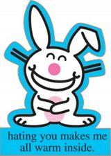 It's Happy Bunny Set of Three Die-Cut Postcards, NEW UNUSED