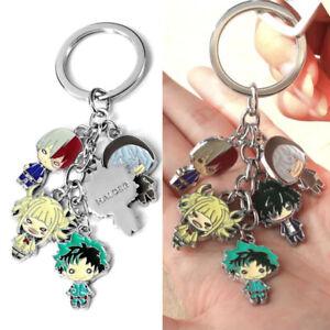 My Hero Academia Keyring Keychain Keyfob Anime Character Pendants Toy Gift Kids