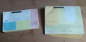 Lot of Vintage 60-70s Diebold Service Engineer - Bank Vaults Expense Reports
