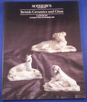 Sotheby Catalog British Ceramics and Glass London 1991 Reference Book Porcelain