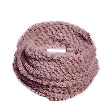 Womens Ladies Snood Chunky Super Soft Neck Warmer Ski Shawl Collar Scarf Scarves