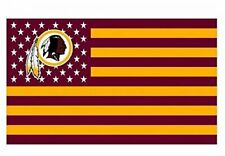 Washington Redskins 3x5 Foot American Flag Banner New