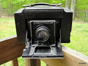 Graflex 3A Large Format Camera W/ 5x7 Tessar Bausch & Lomb Lens