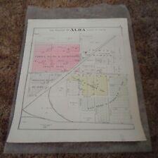 Antique Plat Map - Alba Michigan - Nice Large Original - Antrim County Mi